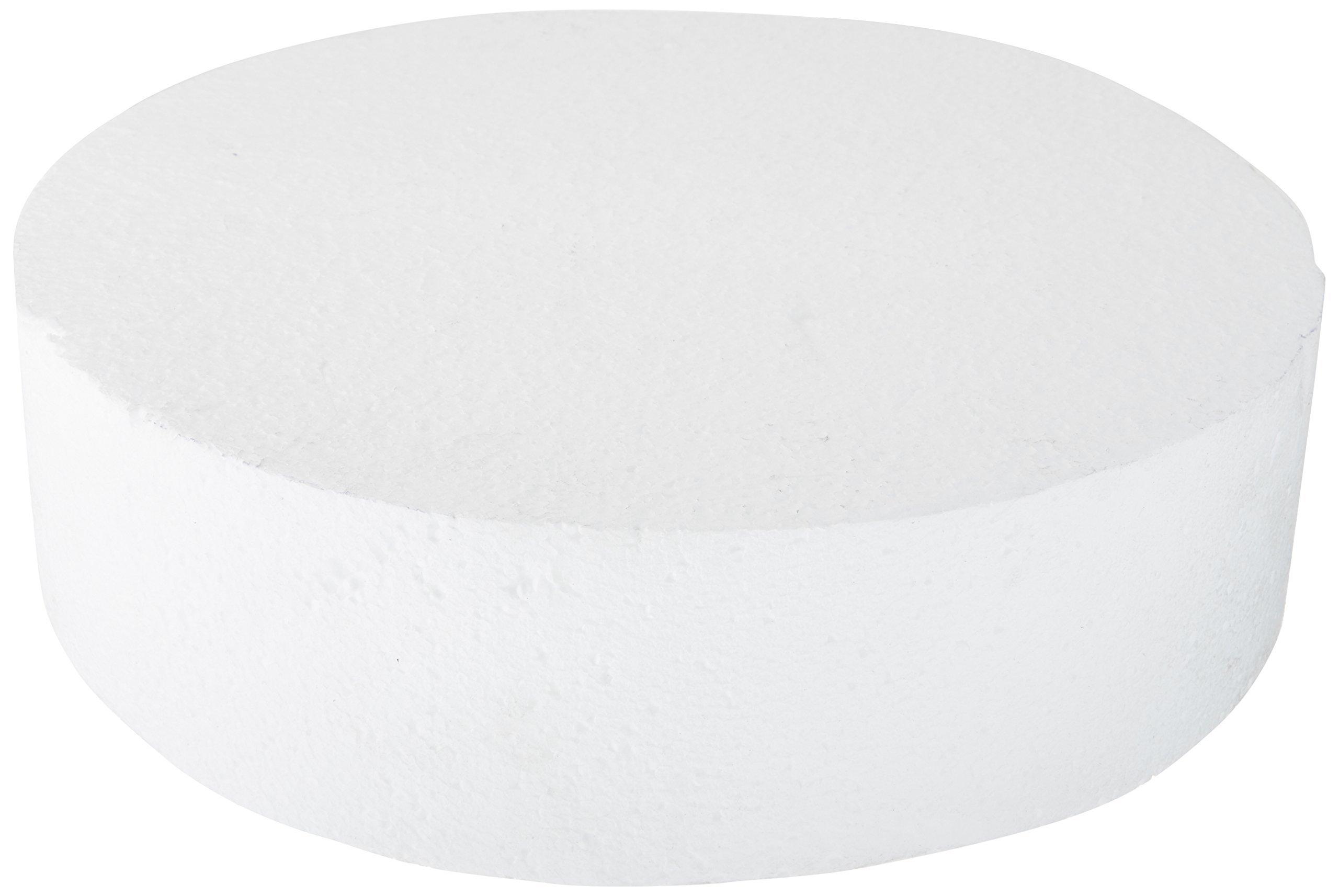 Oasis Supply 747064 Dummy Round Cake, 14'' x 4'', White