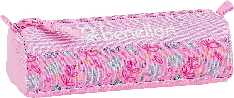 Safta Estuche Escolar de Benetton, Multicolor (Mariposas): Amazon.es: Equipaje