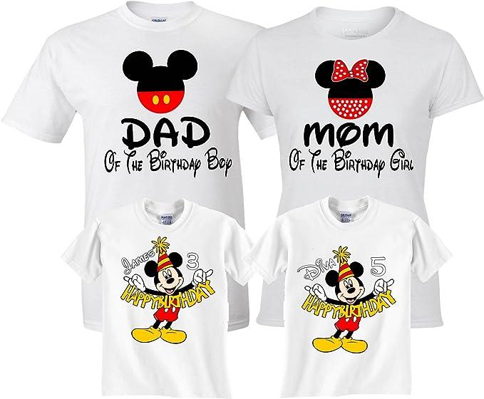 066b0fc2 Birthday Boy/Girl Mickey and Minnie Custom Family Customized Shirts XS  Youth (5-