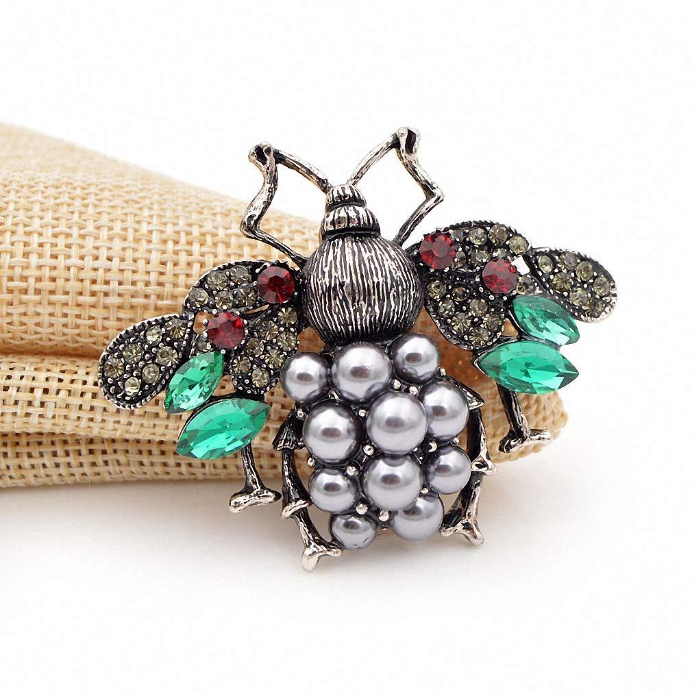 Jana Winkle 3 Colors Choose Pearl Rhinestone Big Bee Brooches Women Insect Pin Gift Coffee by Jana Winkle (Image #5)