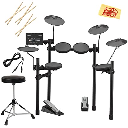 Amazon Com Yamaha Dtx402k Electronic Drum Set Bundle With Drum