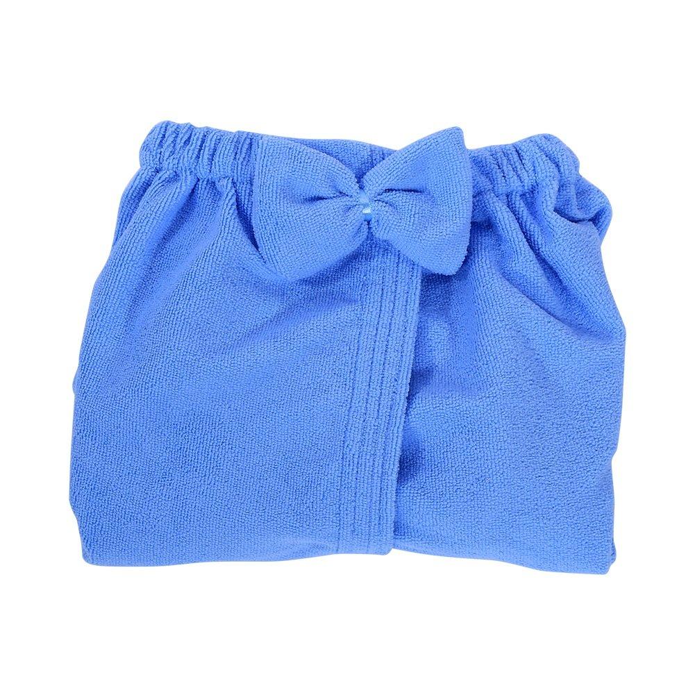 Color : Azul Yosoo Bowknot Toalla De Envoltura De Ba/ño,de Microfibra SPA Para Las Mujeres 3 Colores