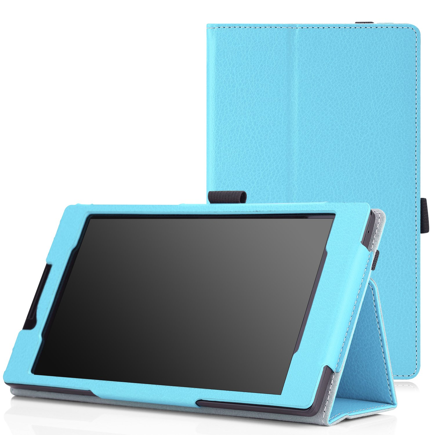 Moko Lenovo Tab 2 A7 30 Case Slim Folding Cover Idea A3500 Blue For A3300 7 Inch 2014 Gen Android 44 Tablet Light Computers