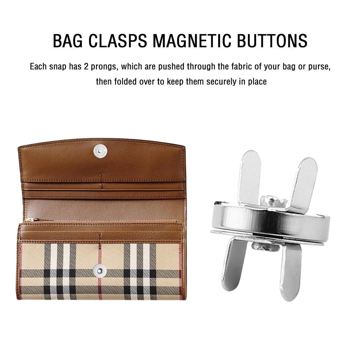 20 unids bolso monedero cierres botones magnéticos broches ...