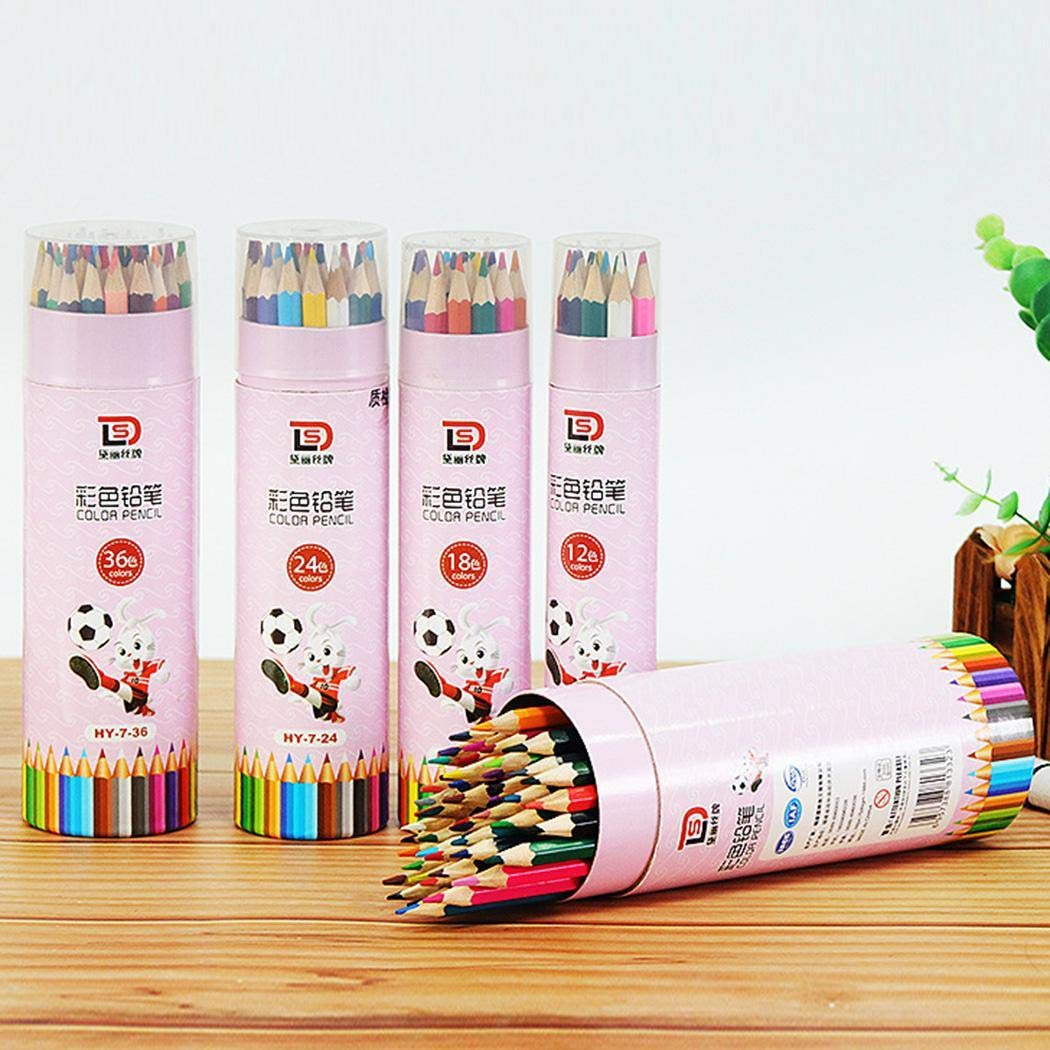 Berill 48 Colors Art Drawing Pencil Non-Toxic Wooden Writing Painting for Kids & Adults Coloring Books by Berill