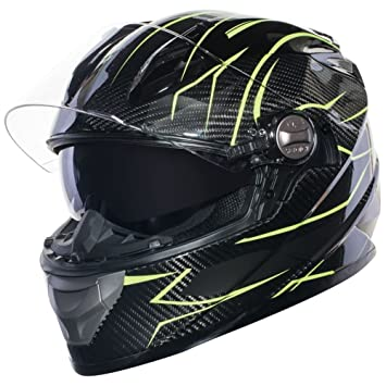 Amazon.es: Sedici Strada carbono Flouro Full-Face casco de moto