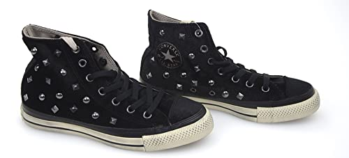CONVERSE ALL STAR SCARPA SNEAKER DONNA VELLUTO NERO ART. 135563C