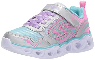 Skechers Girls Heart Lights Love Spark Sneakers