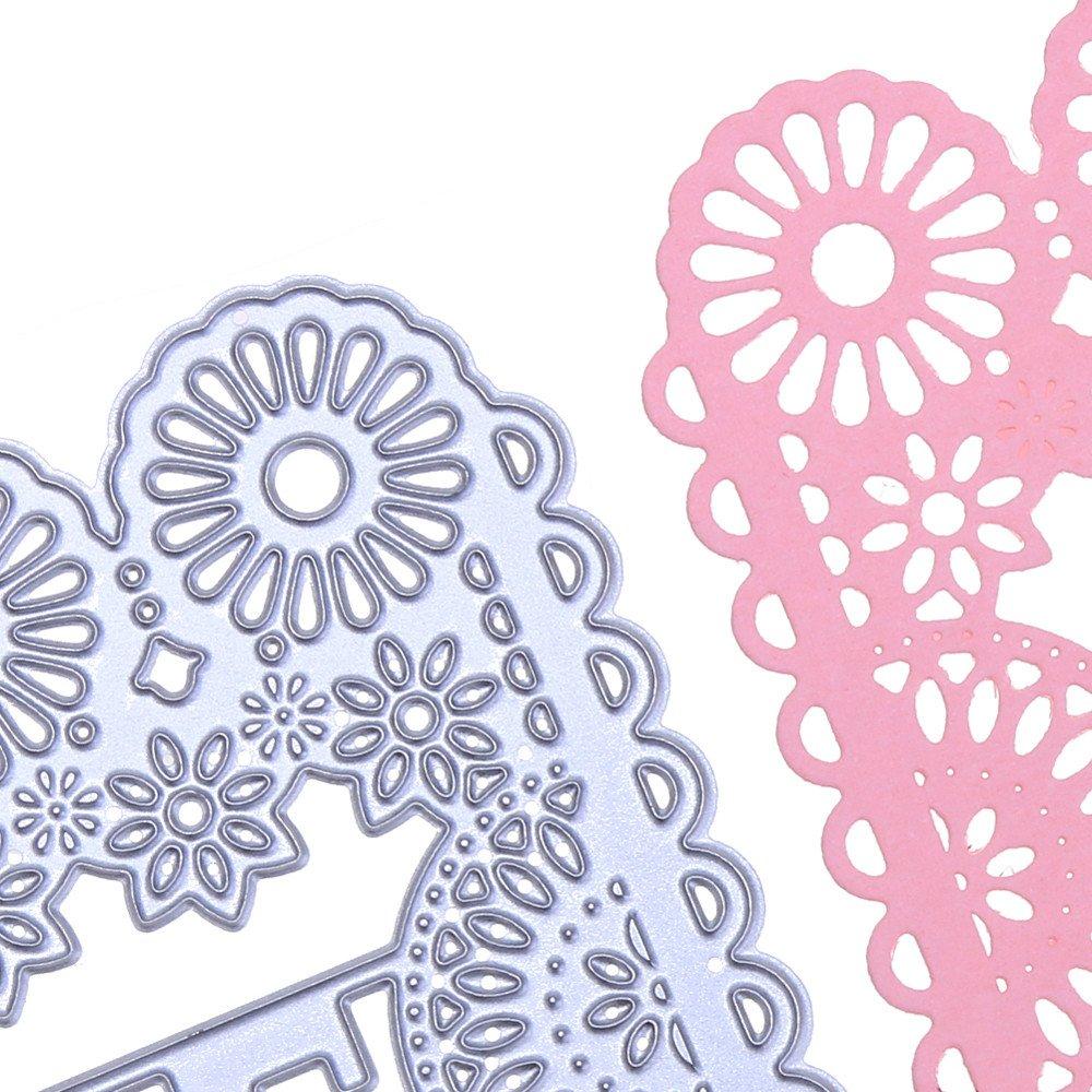 suliforfurnitureanddecor SULIFOR Scrapbooking Pr/ägemesserform Neue Schneeflocke Metall schneiden Form DIY Scrapbook Album papierkarte