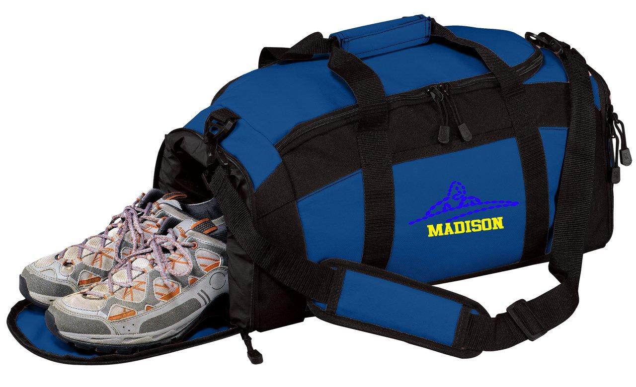 all about me company Personalized Swim Gym Sports Duffel Bag Carolina Blue