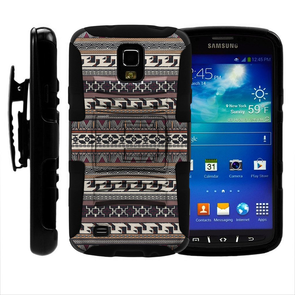 Amazon.com: TurtleArmor | Compatible for Samsung Galaxy S4 Active Case | I9295 | I537 [Hyper Shock] Hard Reinforced Rugged Impact Hybrid Cover Holder Belt ...
