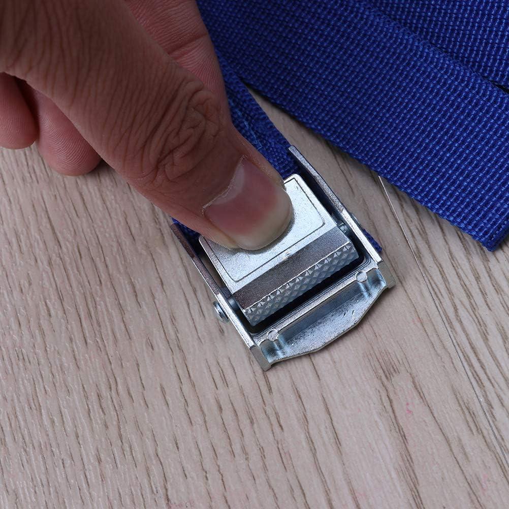 Azul LIOOBO 2 Piezas de Amarre Correas de Amarre Correas de Amarre con Hebilla para el portaequipaje del autom/óvil Portaequipajes Kayak Hamaca