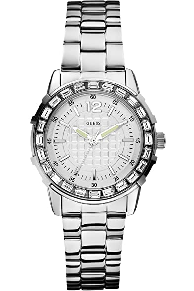 GUESS W0018L1 Womens Dazzling Sport Petite Stainless Steel