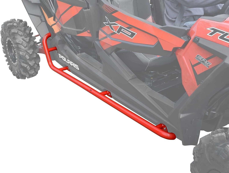 SuperATV Heavy Duty Rock Sliding Nerf Bars for Polaris RZR XP 4 1000 2014+ Red