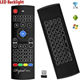 Backlit Air Mouse Keyboard Kodi Remote MX3 Pro, 2.4Ghz Mini Wireless Android TV Control & infrared Learning for Computer PC Android TV Box By Dupad Story