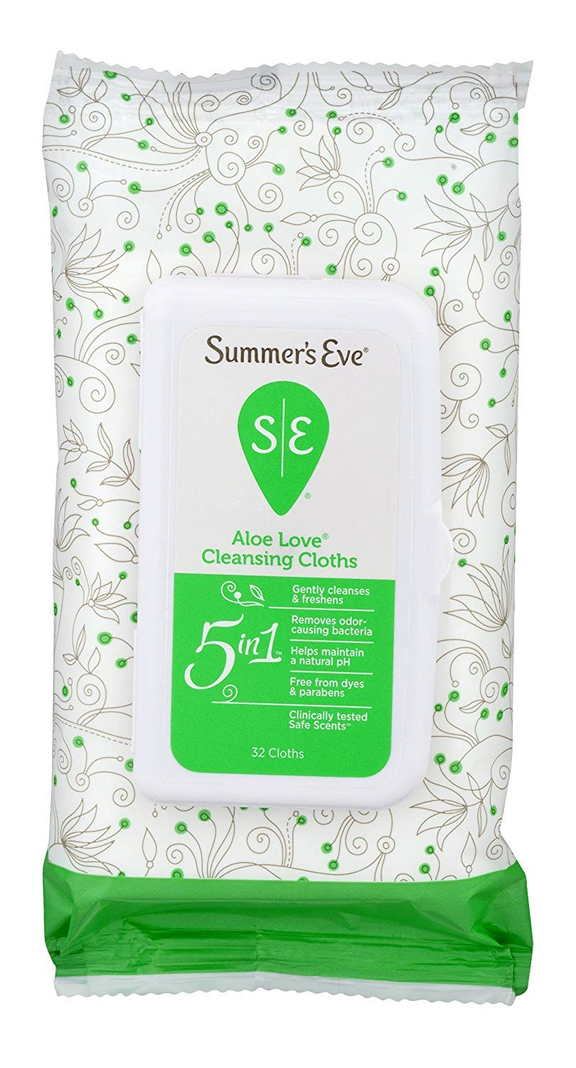 Summers Eve Cleansing Cloths 32 Count Aloe Love (3 Pack) by Summer's Eve