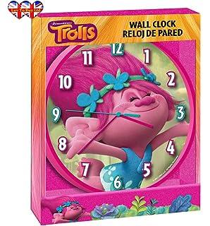 Childrens Wall Clock, Trolls|Poppy Wall Clock, Officially Licensed,Brand