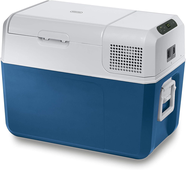 Mobicool MCF40 - Caja De Refrigeración Eléctrica Con Compresor 38 L, Azul/Gris – 12/24V/100–240V A+