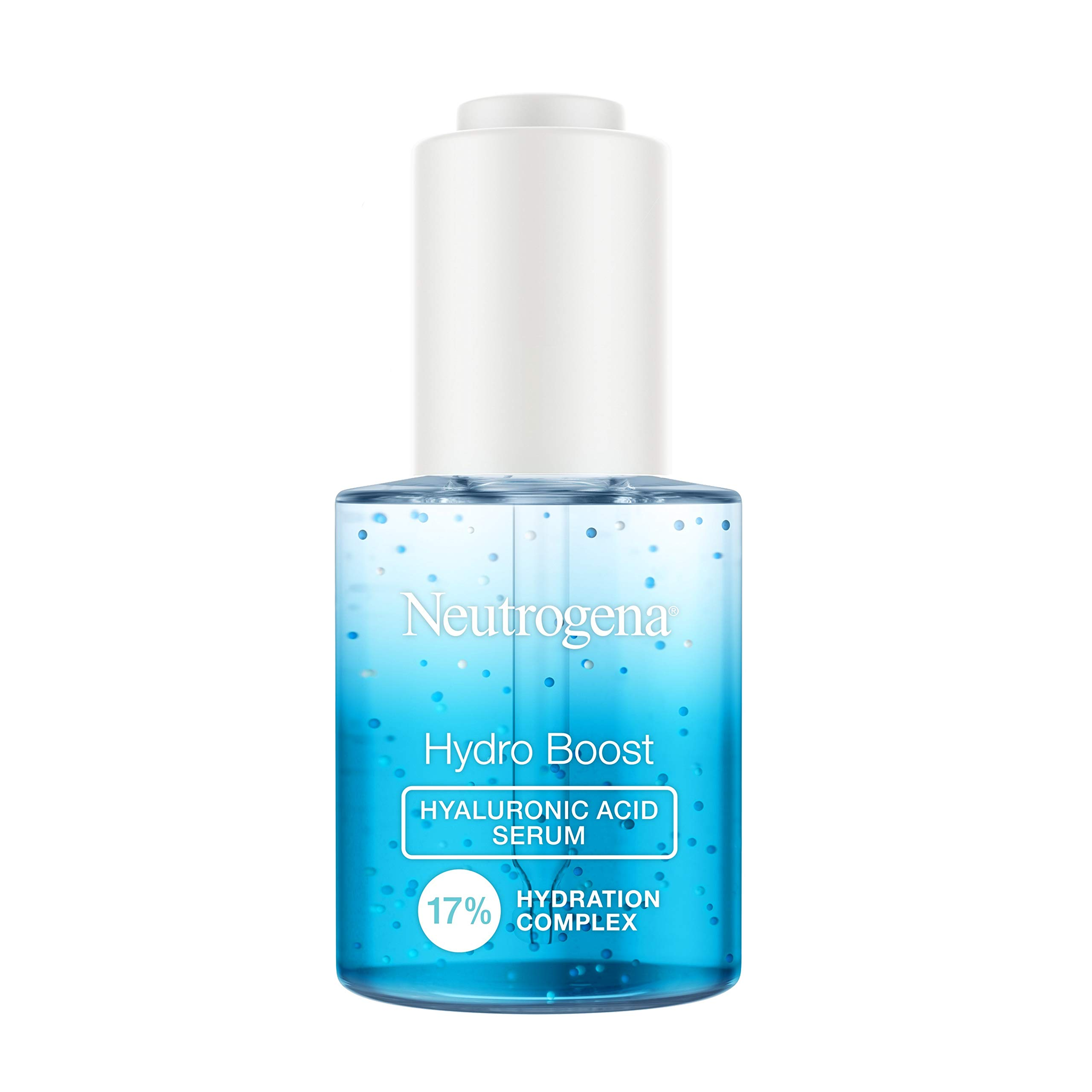 Neutrogena Hydro Boost Hyaluronic Acid Serum with 17% Hydration Complex, Lightweight Daily Hyaluronic Acid Facial Serum for Dry Skin, Oil-Free Fragrance-Free, 1 Fl Oz