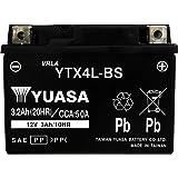 YUASA 台湾 ユアサ バイク用 バッテリー 液入り 充電済み (YTX4L-BS)