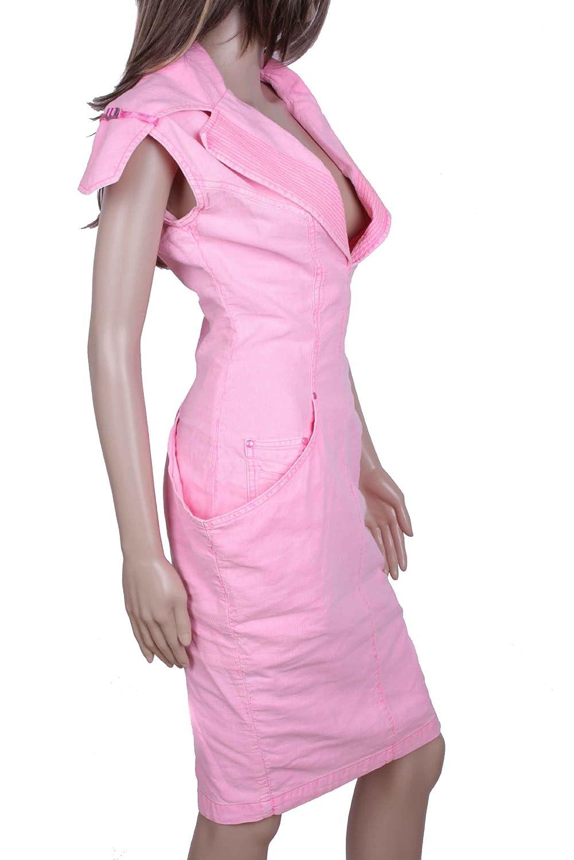 Diesel Women Dress Canvas DS0412 Pink Size XS