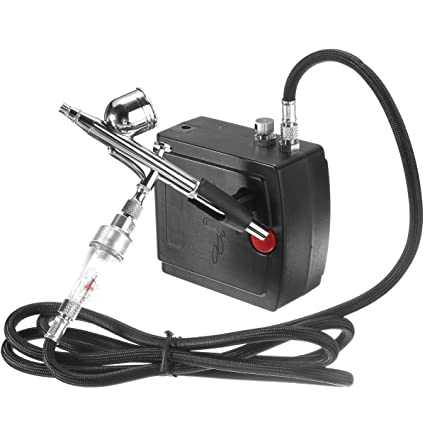 AC100-240V Precision Dual-Action Airbrush Air Compressor Kit Set Craft Cake Hobby Paint