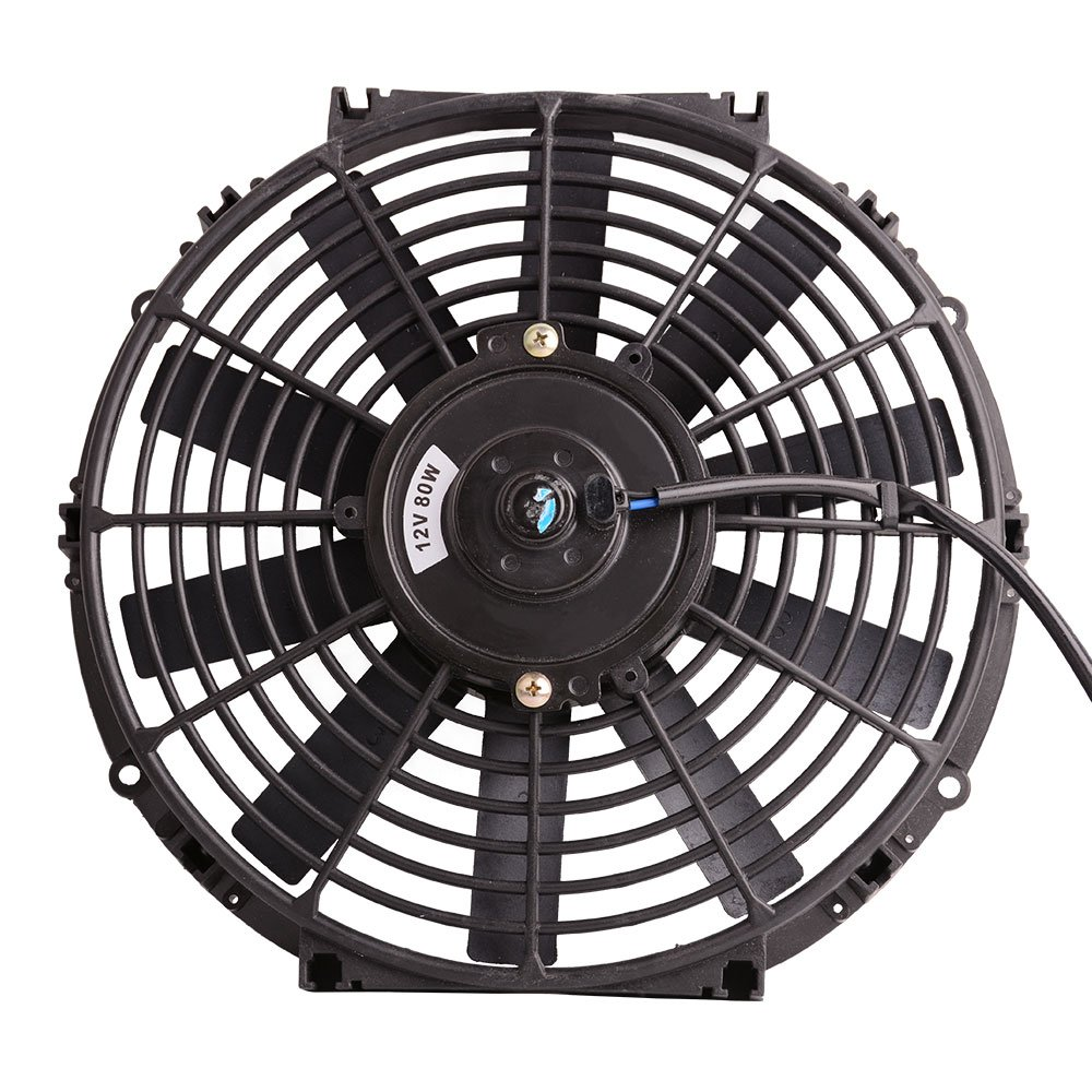12 High Performance Electric Cooling Fan Push Pull Shed Volt Wiring Diagram Radiator Slim 12v 80w 1550 Cfm With Mounting Kit Diameter 1173 Depth
