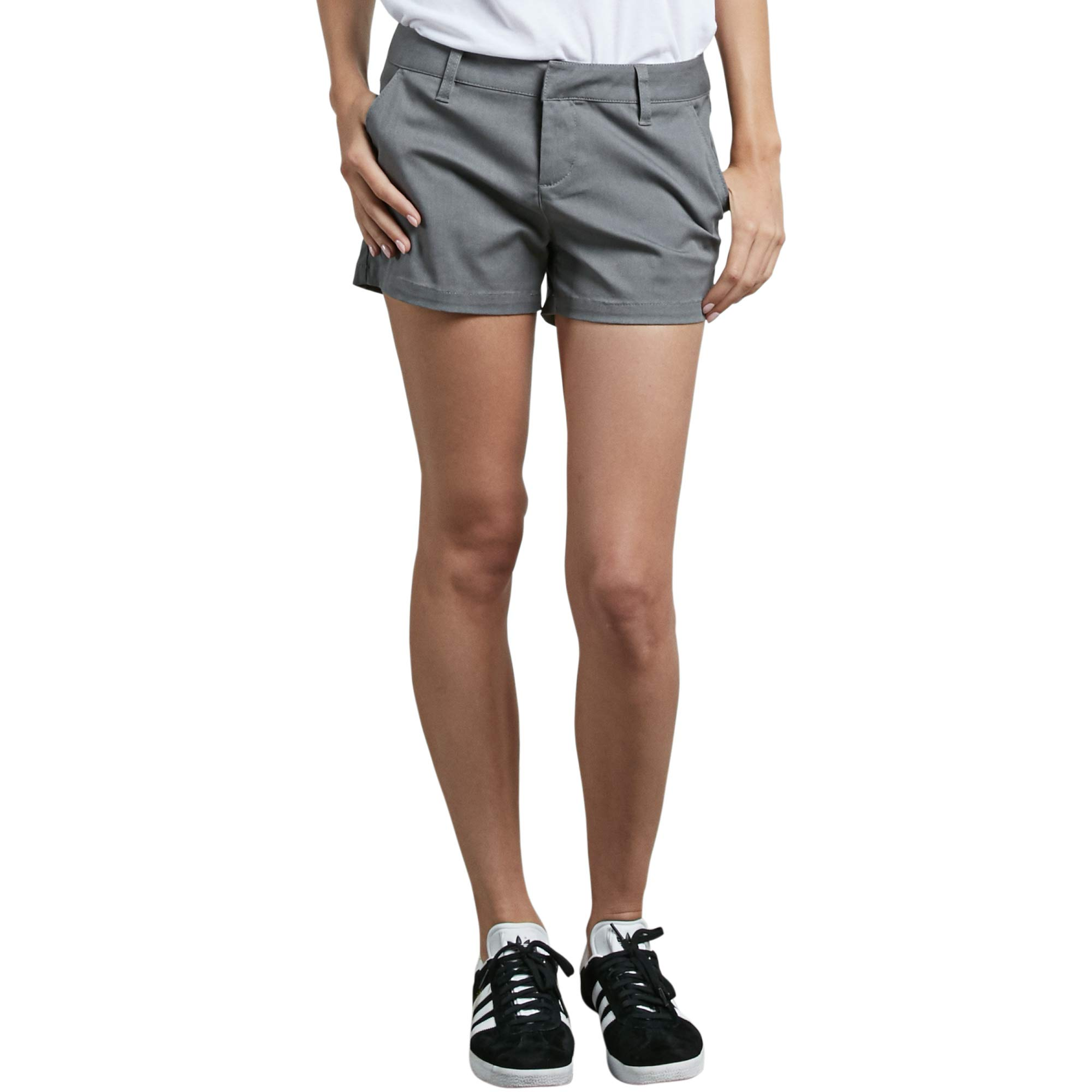 Volcom Junior's Frochickie 3'' Chino Short, Heather Grey, 29