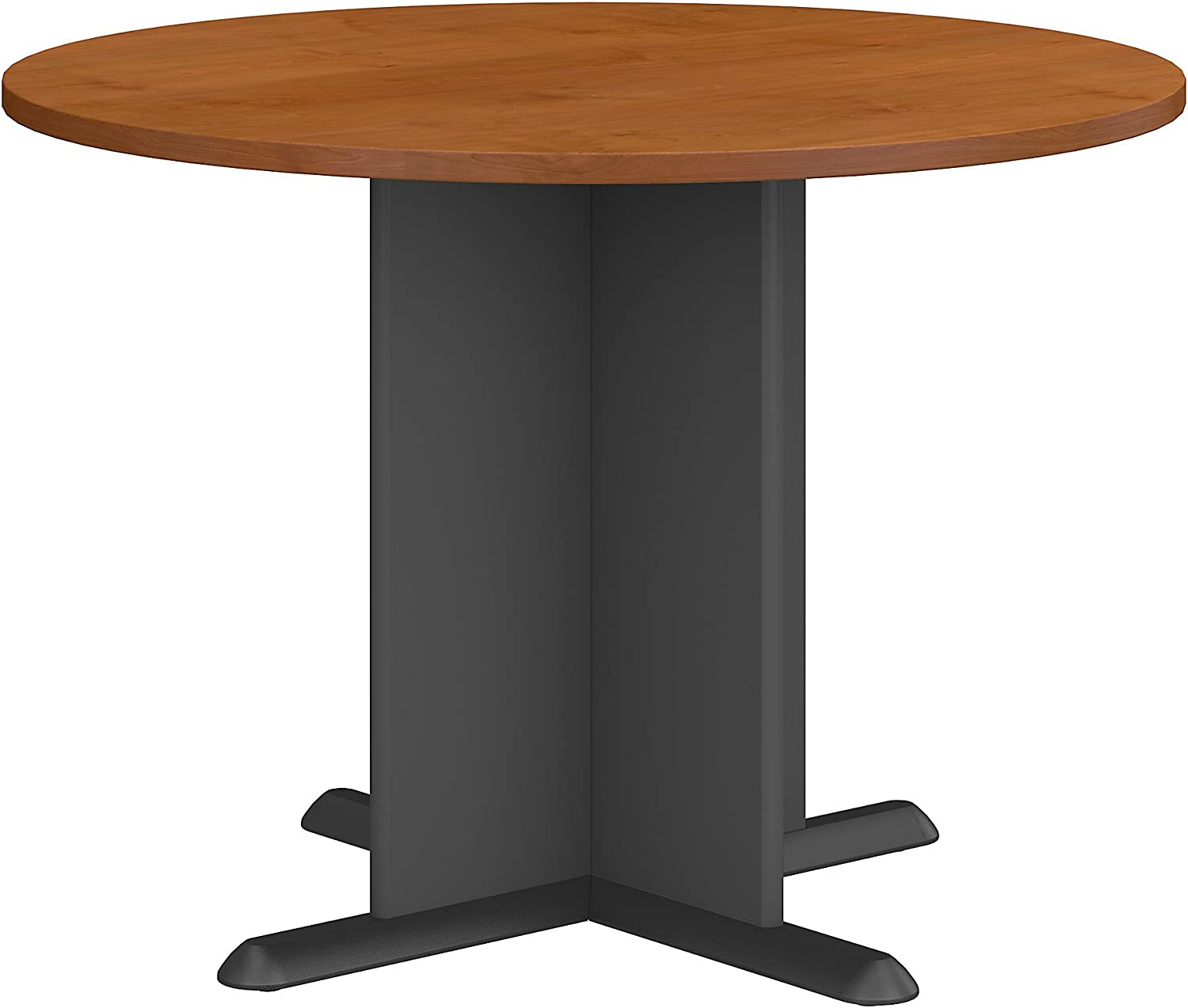 Bush Business Furniture Series A & C 42 Inch Round Conference Table in Natural Cherry