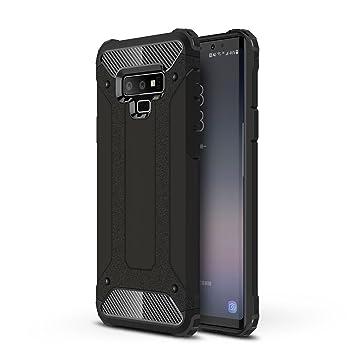 AOBOK Funda Samsung Galaxy Note 9, Doble Capa Híbrida Armor Funda Shock-Absorción Armadura Proteccion Carcasa para Samsung Galaxy Note 9 Case (Negro)