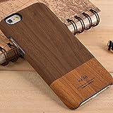 "Apple iPhone 6 6S 4.7"" kajsa Hard Case Wood Holz Grain Pattern Skin Cover Braun"