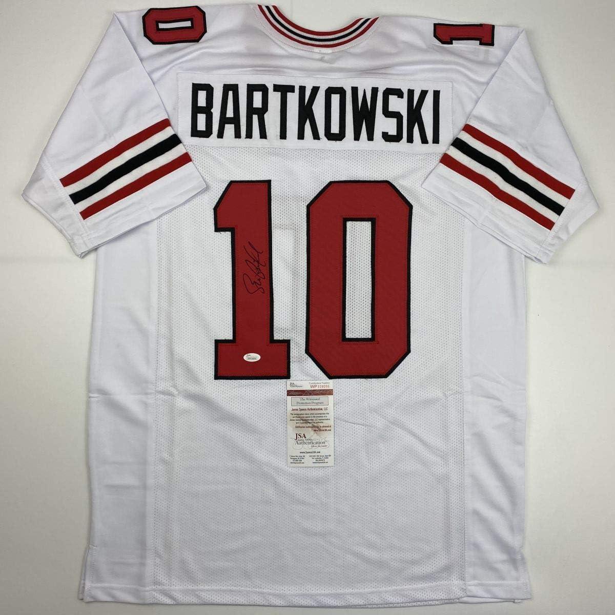 Autographed/Signed Steve Bartkowski Atlanta White Football Jersey ...