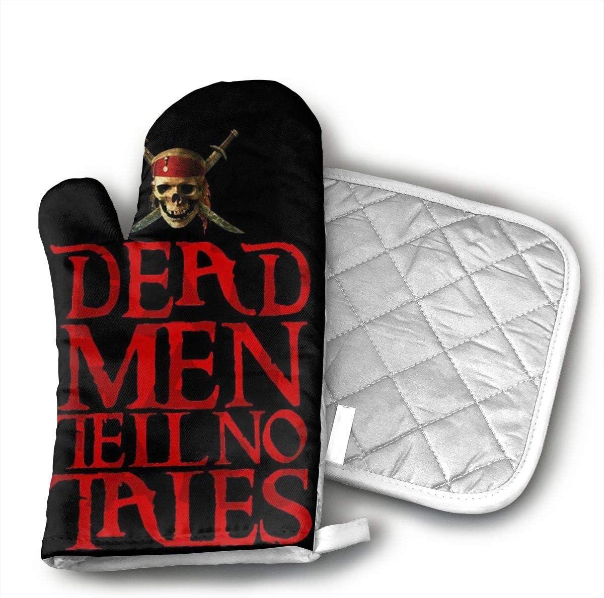 YUHUJUKU Pirates of The Caribbean Dead Heat Insulation Gloves, A Glove,a Heat Insulation Mat.(1.6 Inches Thick)