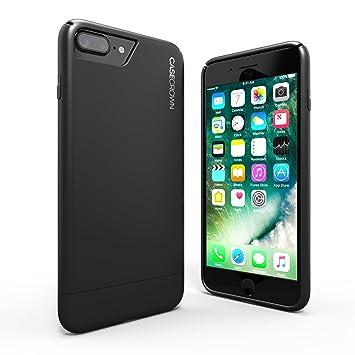 iphone 7 plus black. iphone 7 plus case, casecrown lux glider case (matte black) w/ matte iphone black