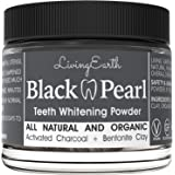 Black Pearl Teeth Whitening Activated Charcoal Toothpaste - Organic & All Natural - Remineralizing Tooth Powder - Anti-Bacterial - Made In USA - Glass Jar