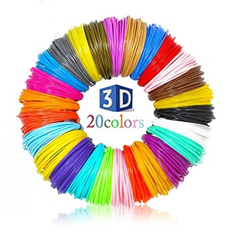 3d Pen filamento nachfüllungen 1.75 mm PLA material 20 Color/16 ...