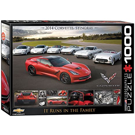 Image Unavailable. Image not available for. Color  EuroGraphics 2014  Corvette Singray  It Runs in the Family Jigsaw Puzzle ... edc2d964c4572
