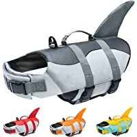 Malier Dog Life Jacket, Ripstop Dog Life Vest Adjustable Dog Life Preserver with Strong Buoyancy and Durable Rescue…