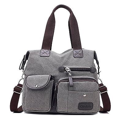 ec4880ce9d Gindoly Sac à main pour femme, Multi poches Grand sac à bandoulière  fourre-tout