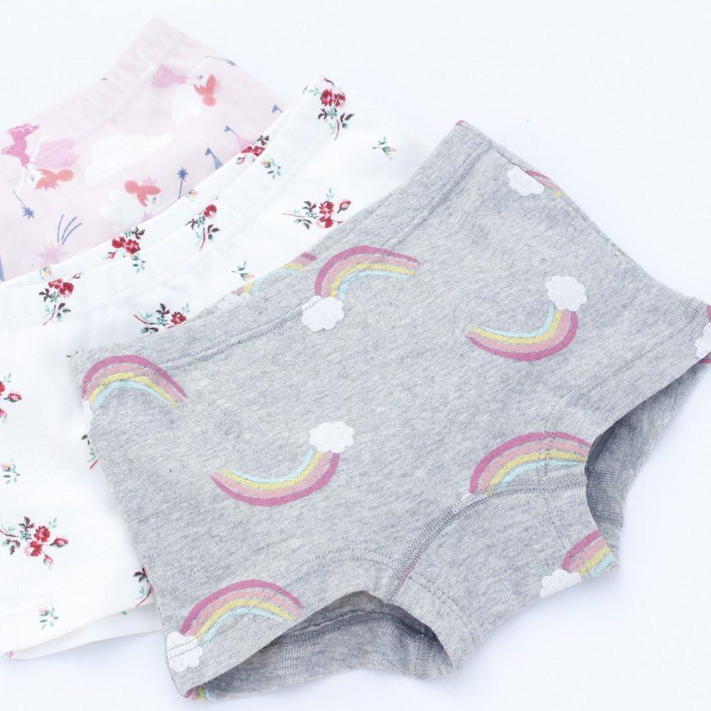 Pack of 6 Closecret Toddler Undies Little Girls Soft Cotton Boyshort Panties