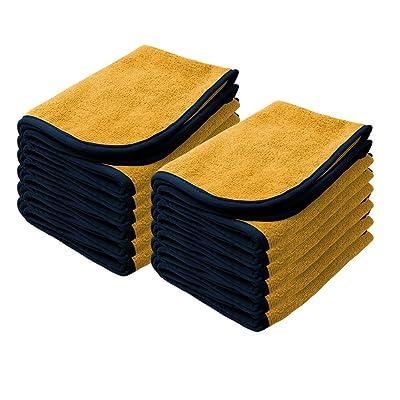 "Nanoskin Power Shine Microfiber Towel, Yellow w/Black Silk Edge, 16"" x 24"", (12 Pack) [NAM-PS380Y-12]: Automotive"