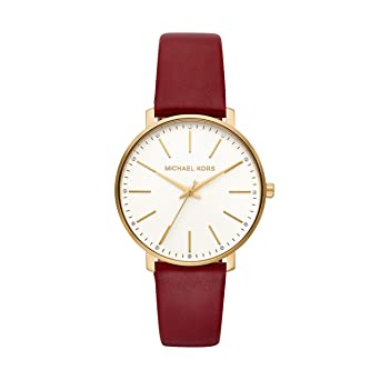 bbb84ae7598c Amazon.com  Michael Kors Women Pyper Quartz Leather Red with White Dial  Watch MK2749  Michael Kors  Watches
