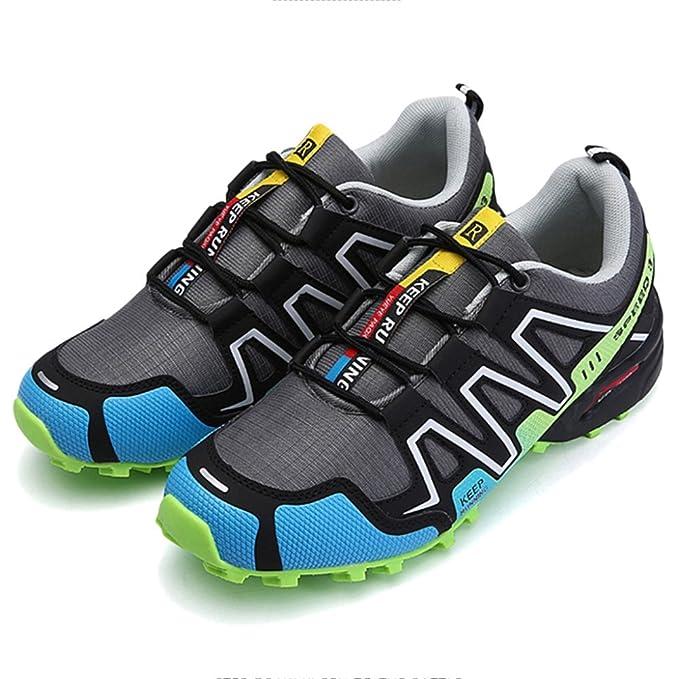Yra Zapatos De Senderismo Unisex Antideslizantes Deportes Al Aire Libre Zapatillas Respirables Para Hombres Señoras Trekking Escalada Montañismo Calzado: ...