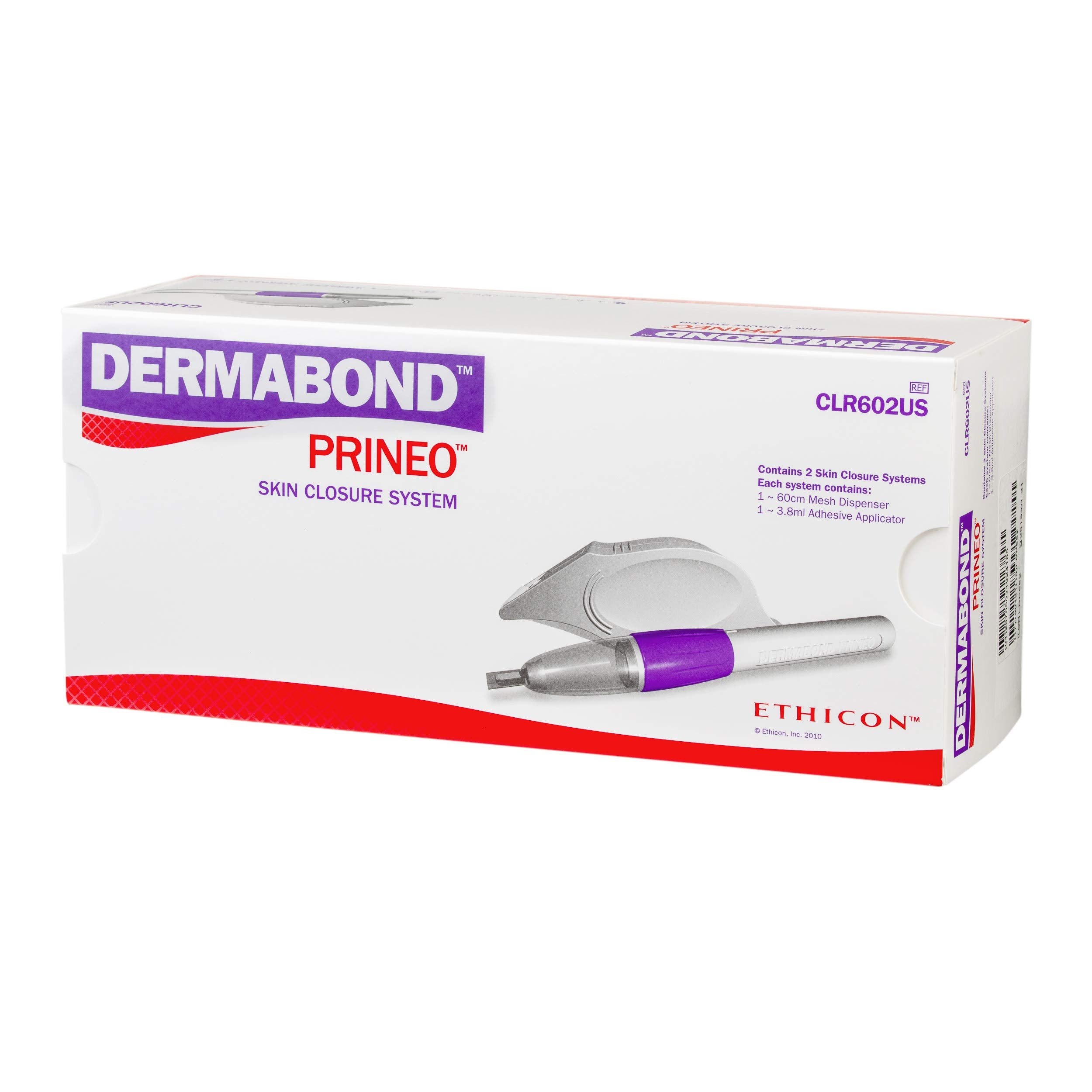 Ethicon DERMABOND PRINEO Skin Closure System (60 cm), CLR602US, Combination of Self-Adhering Mesh and Topical Skin Adhesive, Medical Supplies