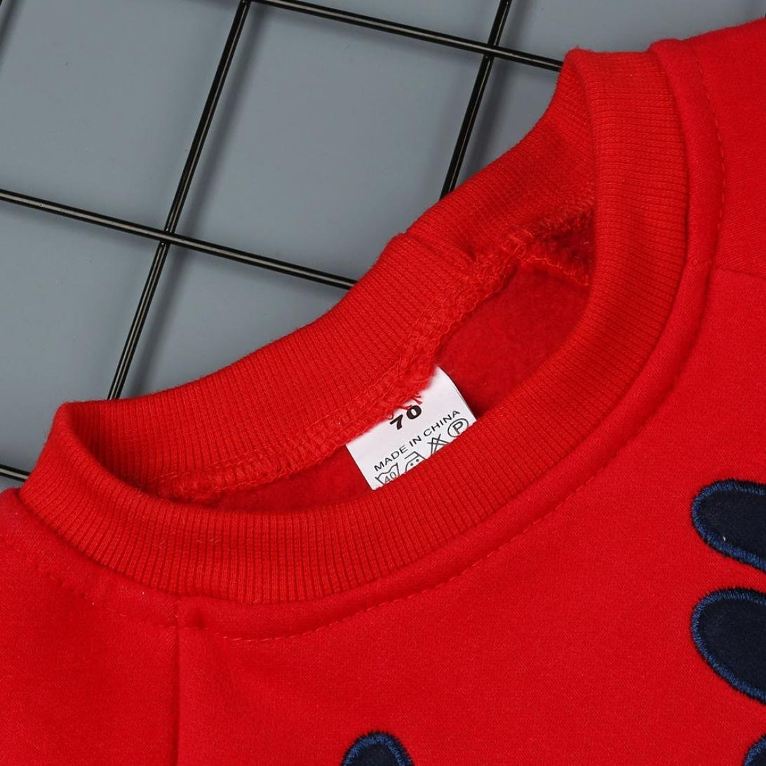 Huhu833 Neugeborenes Baby M/ädchen Jungen Weihnachten Kleidung Deer Strampler Overall Pyjamas Outfits 0-24M