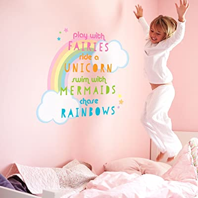 Unicorn Quote Wall Decal (Large Size) | Girl's Room décor | Wall Stickers: Baby