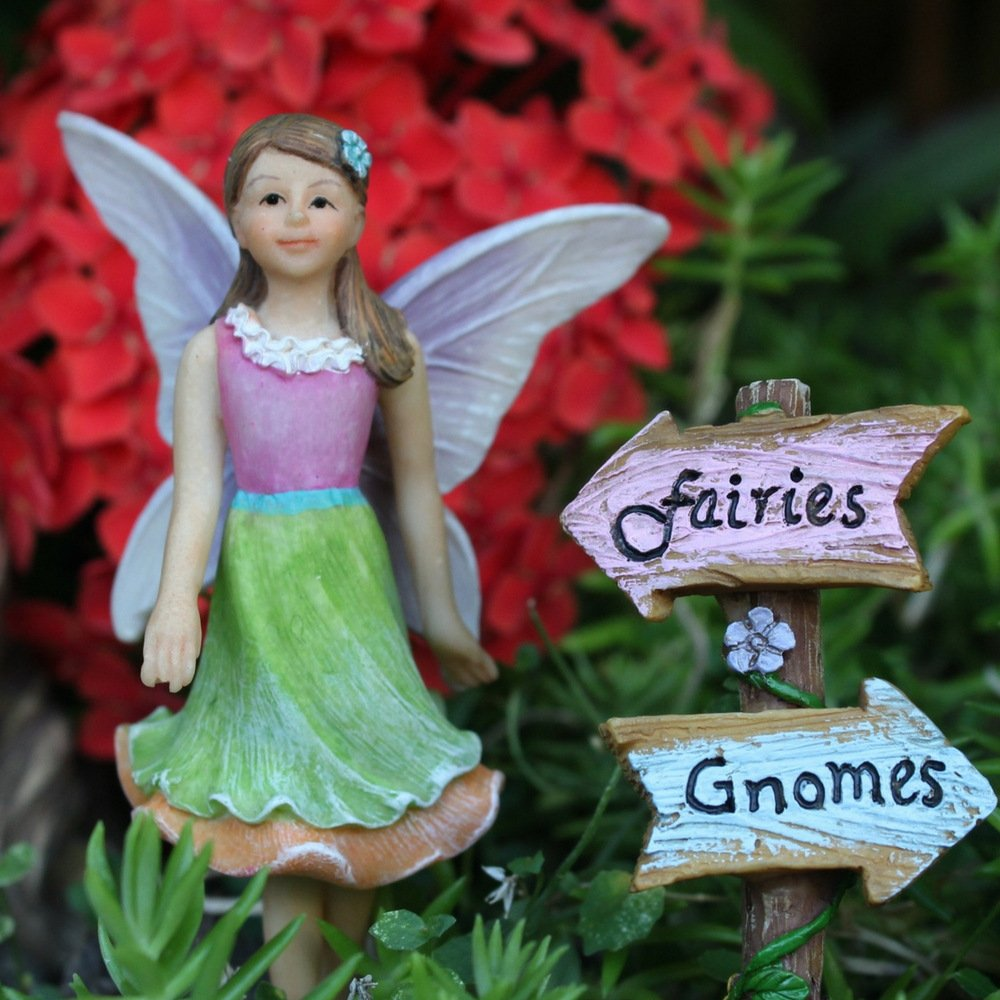 """Fairy Garden House Accessories Kit – Miniature Fairy Figurines – 7"""" High House – Door can open wide – Supplies by Pretmanns by Pretmanns (Image #4)"""