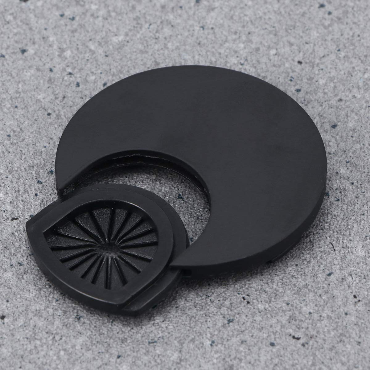 Negro 2pcs Yardwe Pasacables de Escritorio de Plastico Di/ámetro 60mm para Encastrar en Escritorio o Mesa para Oeganizador de Cables de Ordenador de Oficina