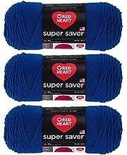 3Pk Coats Yarn E300-4315 Red Heart Super Saver Yarn-Neon Fleck