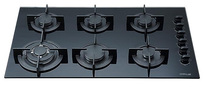 MILLAR GH9061PB 90cm gas-cocina vitrocerámica: Amazon.es ...